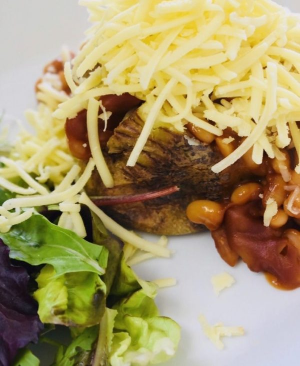 Image of a Cheese and beans jacket potato